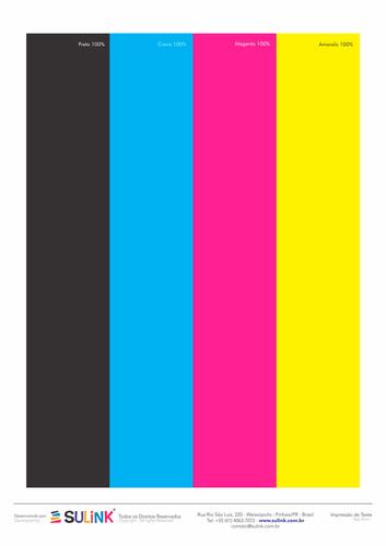 Testprint - Faixa 4 Cores CMYK - Testes de Impressão