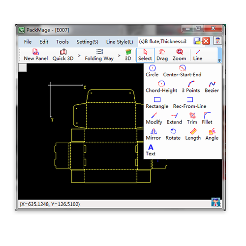 Packmage CAD - Software para criação de embalagens - Sites