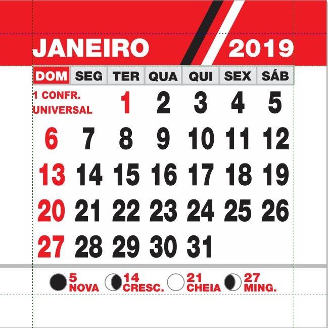 Arte - Calendário 2019