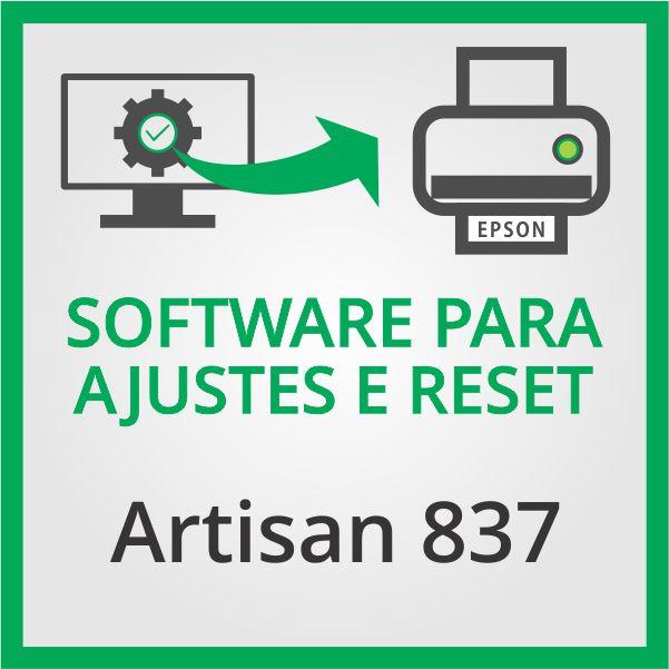 Epson Artisan 837 | Software para Ajustes e Reset das Almofadas