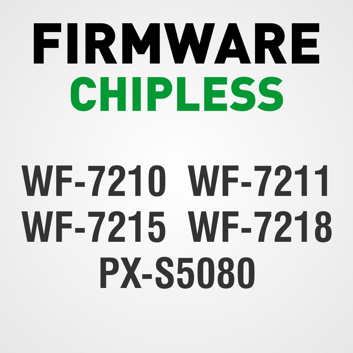 EPSON WF-7210, WF-7211, WF-7215, WF-7218 e PX-S5080 | Arquivo Firmware ChipLess