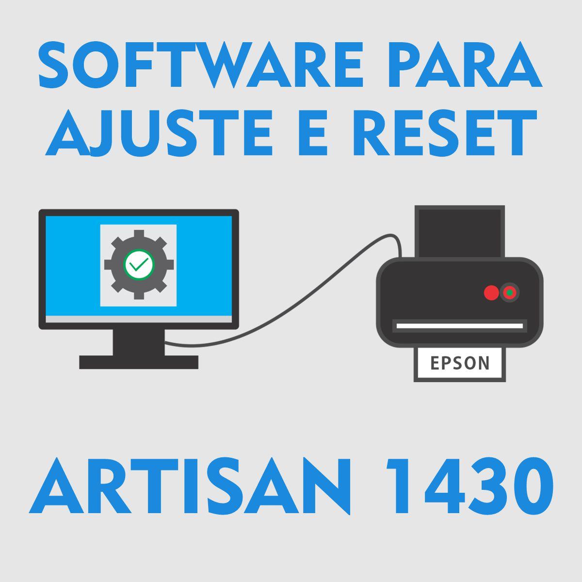 Epson Artisan 1430 | Software para Ajustes e Reset das Almofadas