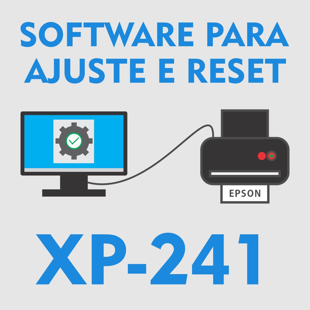 EPSON XP-241 | SOFTWARE PARA AJUSTES E RESET DAS ALMOFADAS