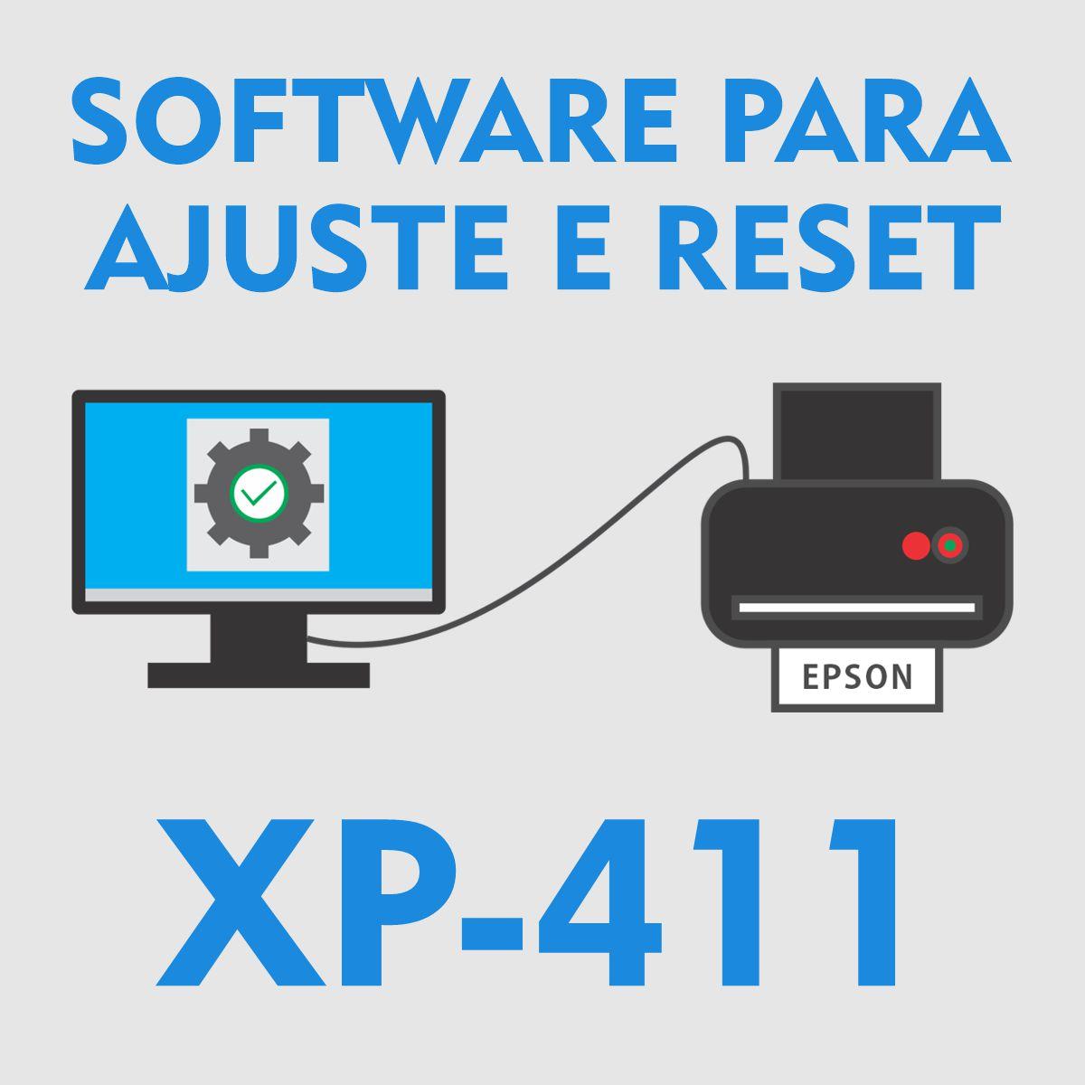 EPSON XP-411 | SOFTWARE PARA AJUSTES E RESET DAS ALMOFADAS