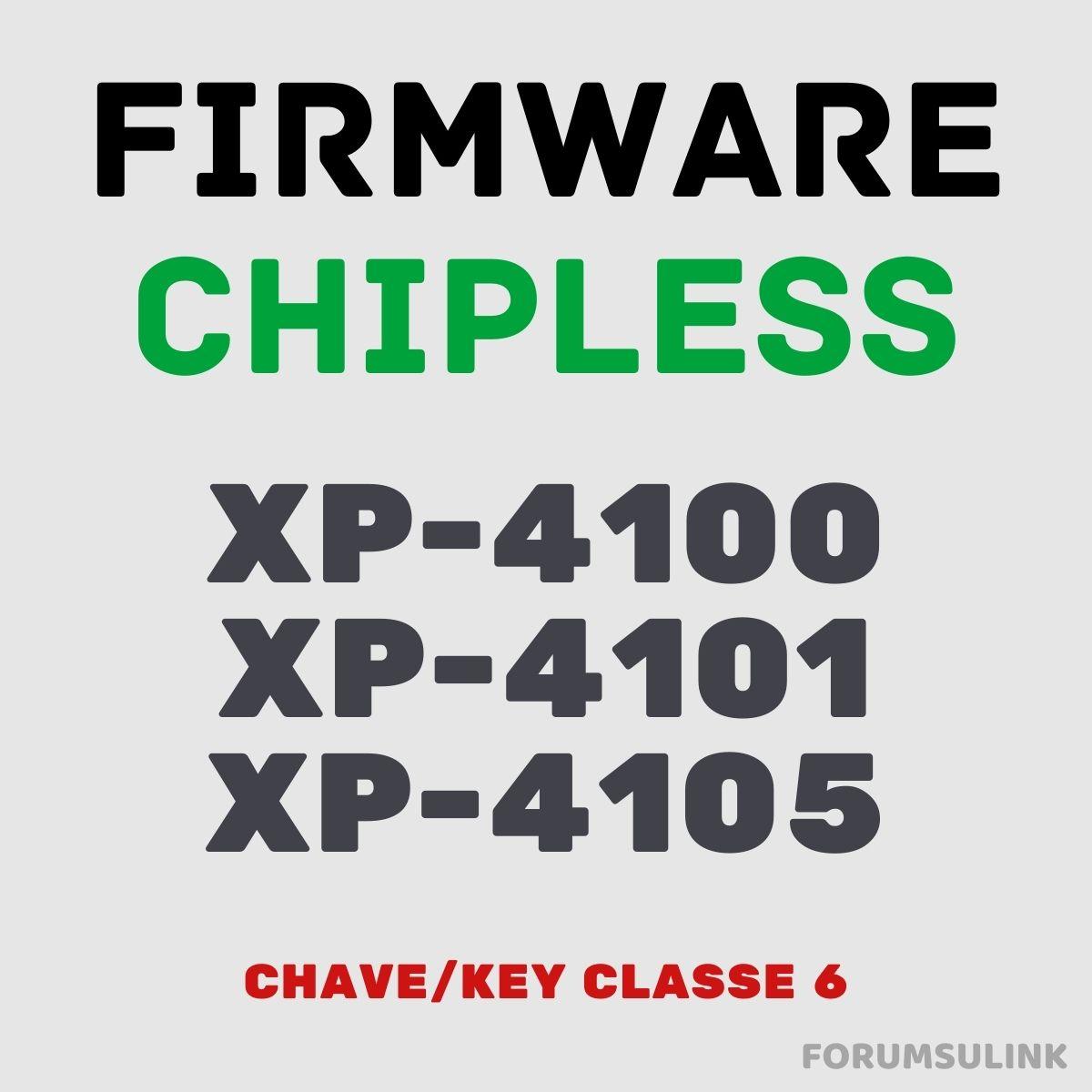 Epson XP-4100, XP-4101 e XP-4105 | Arquivo de Software Firmware ChipLess
